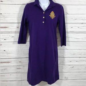 Lauren Ralph Lauren sz L purple t shirt dress
